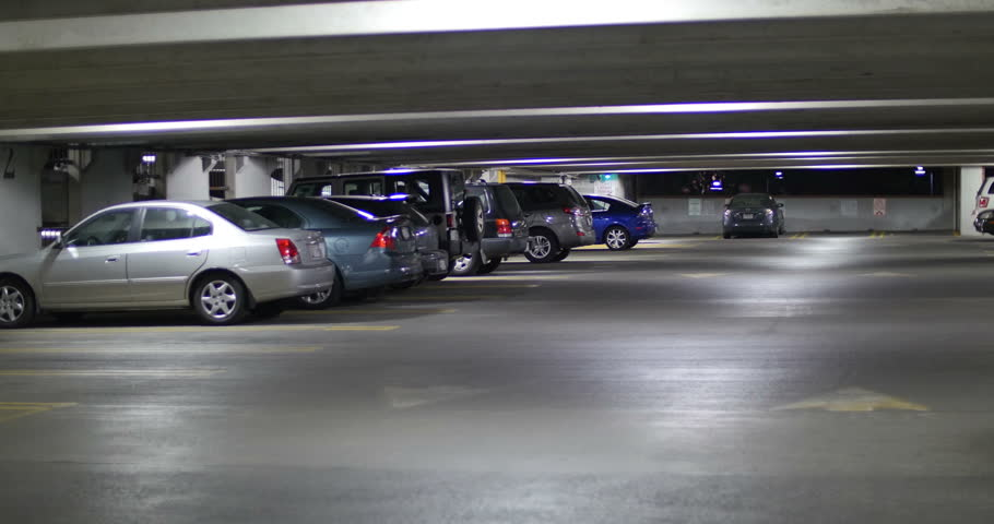 Family Car Driving in Parking Garage at Night, 4K | Shutterstock HD Video #16976872