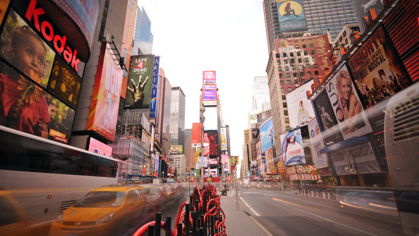 NEW YORK - CIRCA JUNE 2011 (Timelapse):  Time Square time lapse circa June 2011 in New York city.