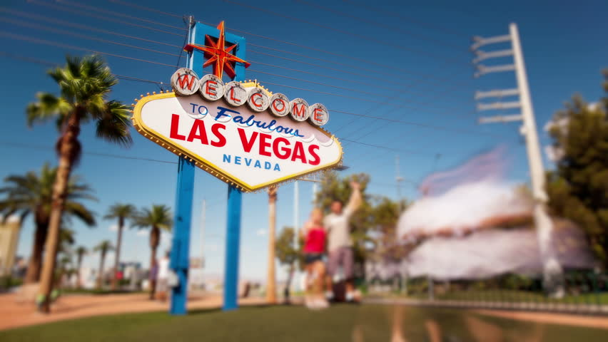 Timelapse of people taking photographs in front of the Welcome to Las Vegas sign | Shutterstock HD Video #1698964