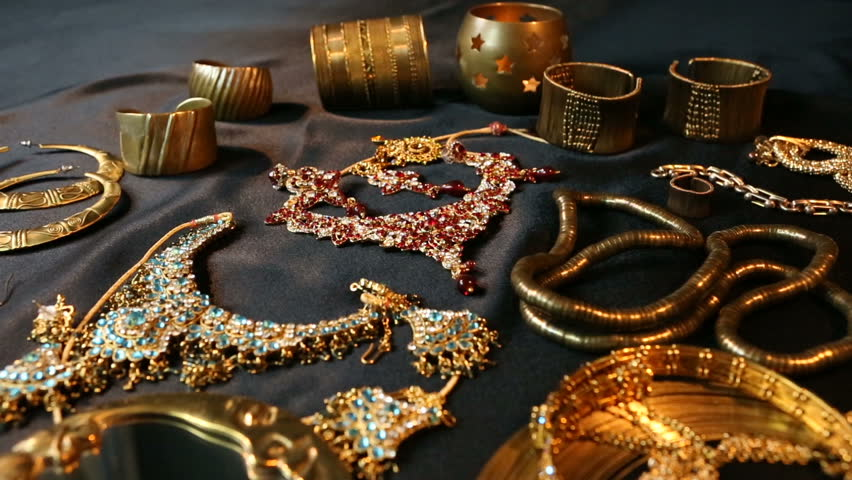 Gold Jewelry Goods Stock Footage Video 24125536 Shutterstock