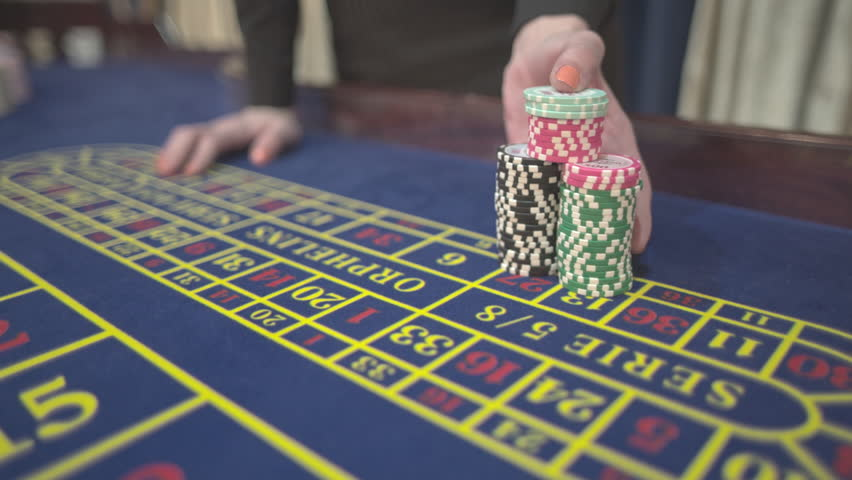 casino, payout on roulette, chips, S-Log