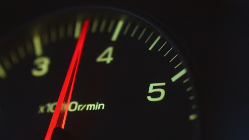 The car pics up speed, the load on the engine,  tachometer | Shutterstock HD Video #17079472