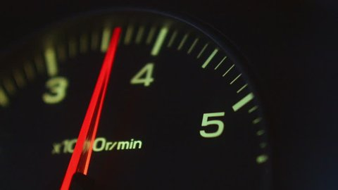 The car pics up speed, the load on the engine,  tachometer