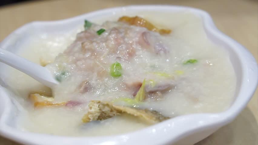 Hong Kong Style Chinese Porridge, Stock Footage Video (100 ...