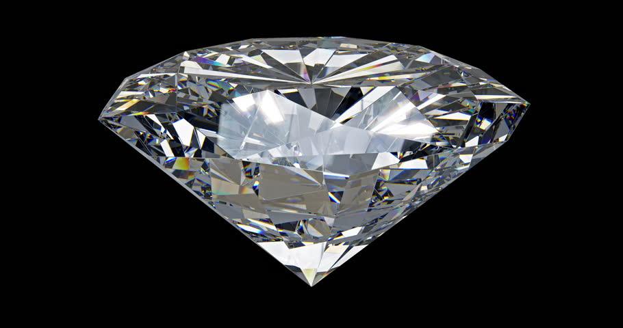 Big Spinning Diamond On Black Background - Loopable 3d ...
