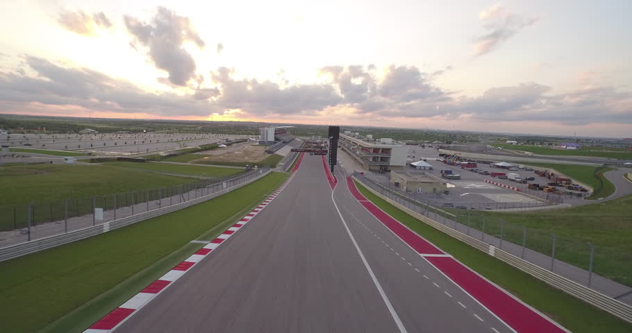 Aerial view of the Circuit of The Americas, Austin, Texas (July 01, 2015 - Austin, Texas - USA.)