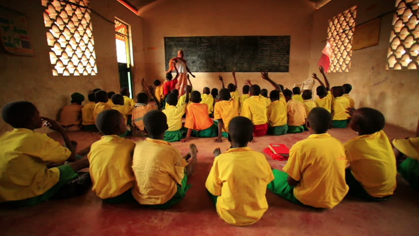 KENYA, AFRICA - CIRCA 2011:  A classroom filled with students in Kenya, Africa.
