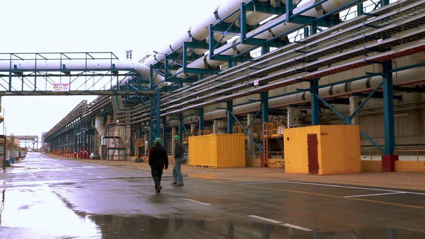 ISRAEL - FEB 2011: footage of a desalination plant in Israel