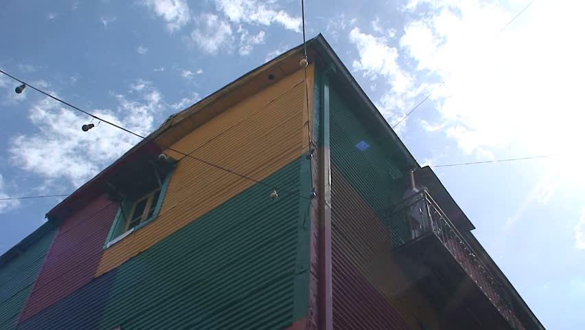 BUENOS AIRES, ARGENTINA - CIRCA 2009: Colorful houses, La boca neighborhood, Buenos Aires, Buenos Aires, South America, Argentina, Capital, City, Metropolis, circa 2009 in Buenos Aires, Argentina. | Shutterstock HD Video #1734082