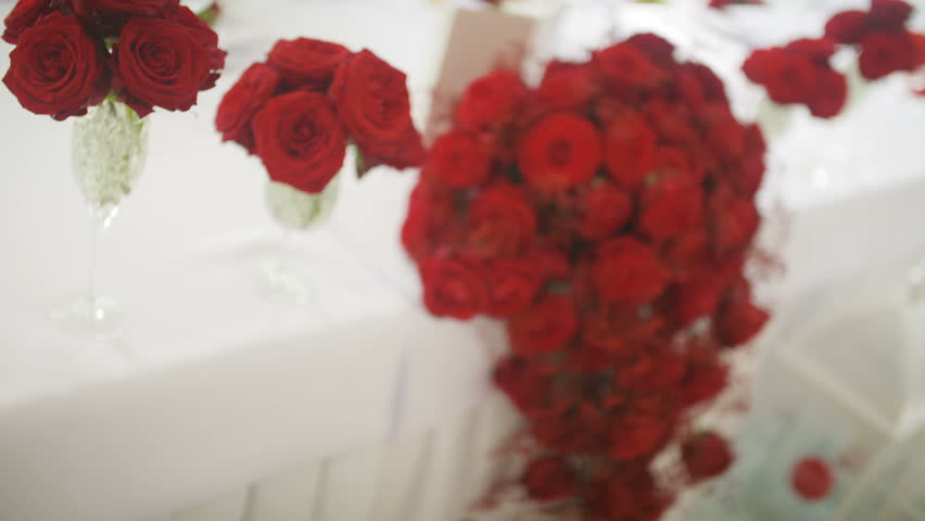 Bouquet of red roses wedding decoration stock footage video bouquet of red roses wedding decoration hd stock video clip junglespirit Gallery