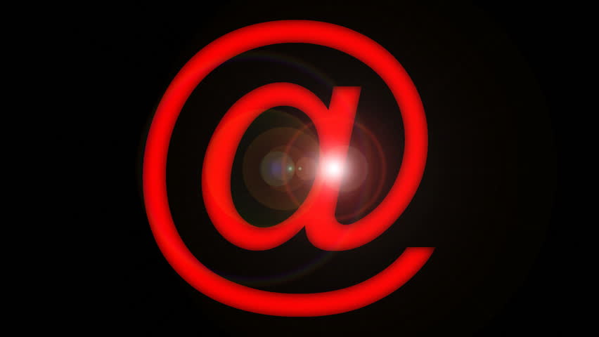 Animated e-mail symbol.   Shutterstock HD Video #173602