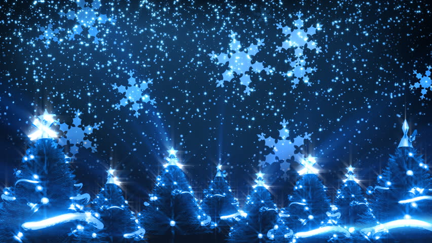 Christmas Trees and Snow HD Loop