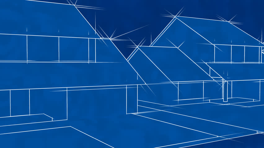 Blueprint style city 3d animation rendered in hd stock footage blueprint houses animation hd loop hd stock footage clip malvernweather Images