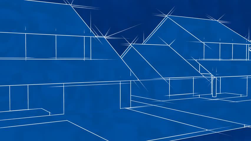 Blueprint stock video footage blueprint hd video clips bigstock blueprint houses animation hd loop malvernweather Choice Image