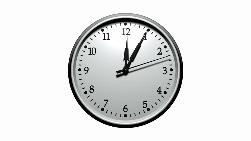 3D Animated Clock Striking Exactly 12'o Clock Stock Footage Video ...
