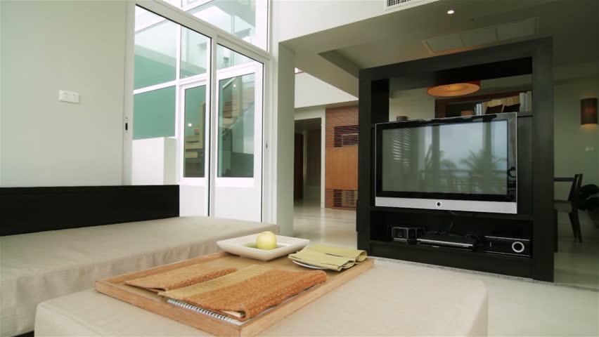 Luxury Loft Apartment Interior Tracking Shot #1740973