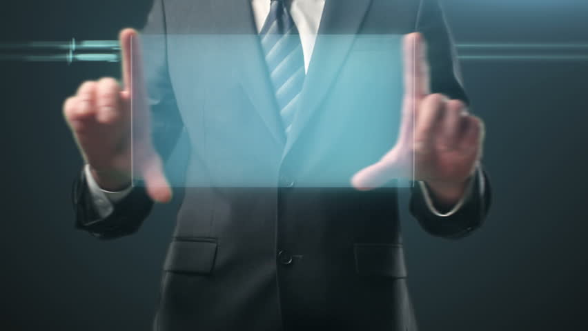 Hand leafing and pushing a empty button on a touch screen interface | Shutterstock HD Video #1741852