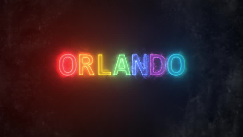 Orlando Text Reveal with the LGBT flag colors / ORLANDO rainbow energy reveal 2 / The Orlando letters revealed with LGBT flag colors energy