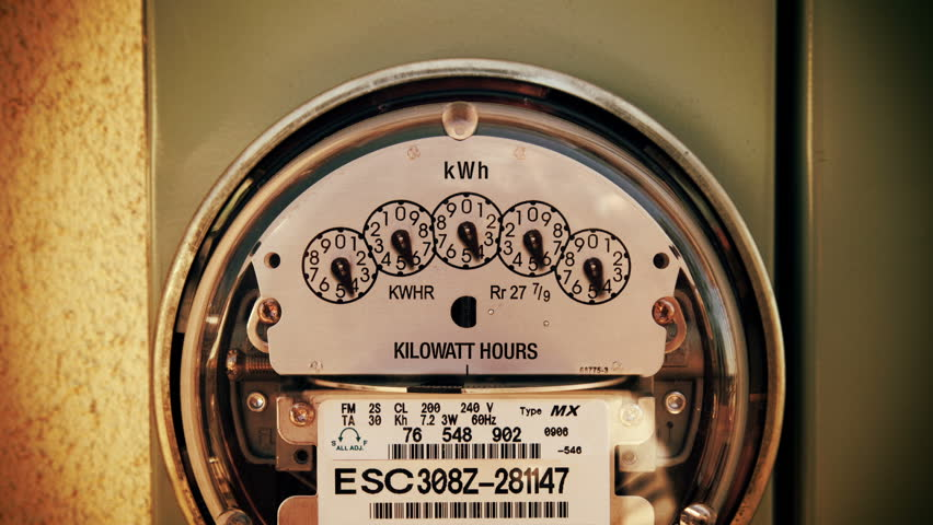 Electricity Meter Time-lapse Zoom