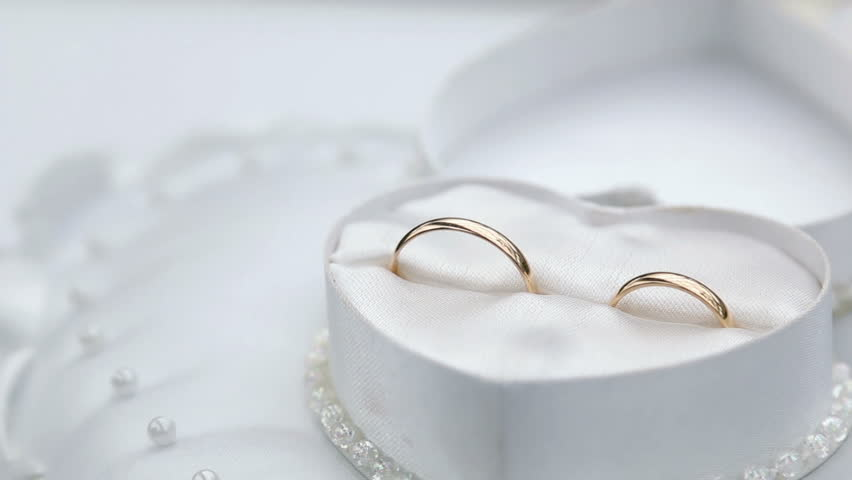 Gold Wedding Rings In White Stock Footage Video 100 Royalty