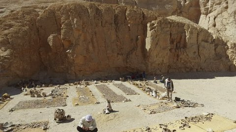 LUXOR, EGYPT - FEBRUARY 11, 2016: Archaeological digs in Valley of the Kings