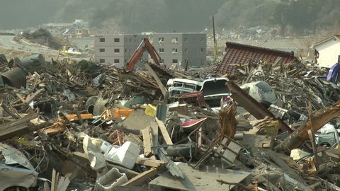 Tsunami Aftermath Destruction In Japan