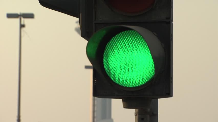 Traffic Signals Uae Mcu View Of A Green Traffic Light