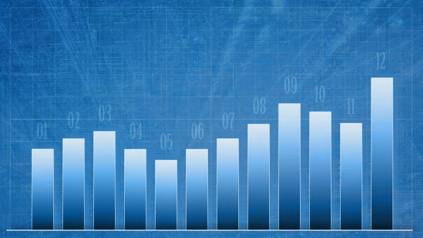 Animated Growth Chart, Infographic With Abstract Increase ...