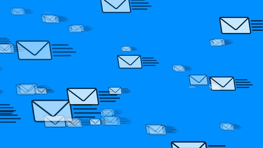 Mail Flying Email Envelopes