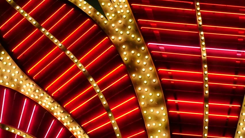Red Neon Las Vegas Casino Sign at Night   Shutterstock HD Video #17619652