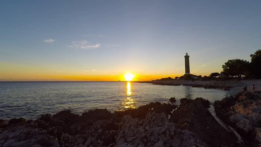 Veli Rat lighthouse at sunset, Dugi Otok island, Croatia  | Shutterstock HD Video #17629417