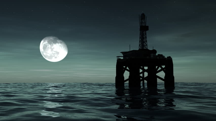 Stock Video Of Offshore Oil Rig Drilling Platform