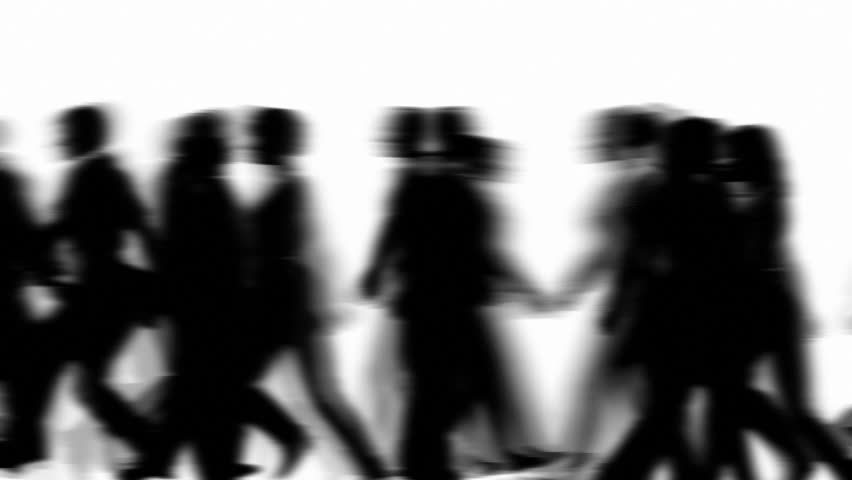 People Walking By 3D Vector Silhouette Animation #1767296