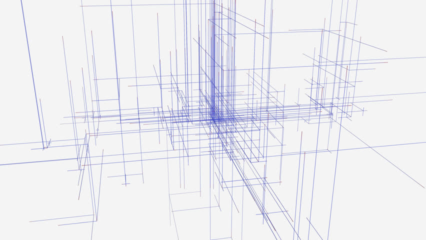Brilliant Architectural Drawing Blueprint Computer Generated Abstract Structure With Inside Design Decorating