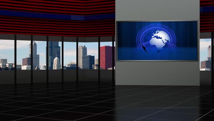 News TV Studio Set