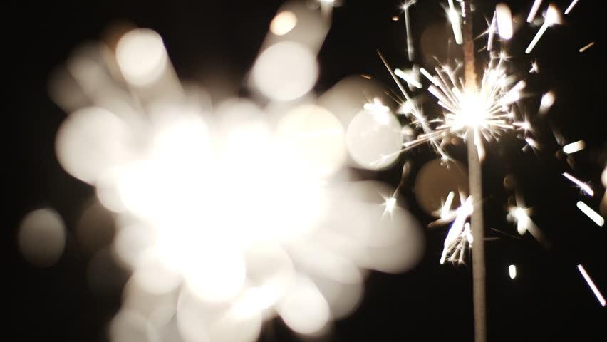 Sparklers Celebration Pyro Slowmotion HD | Shutterstock HD Video #17712052