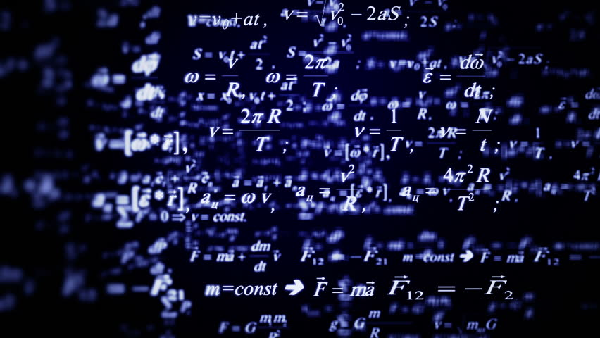 Beautiful blue formulas flying. Good for sciense titles and background, news headline business intro screensaver and opener. School education presentation, diploma project. Physics science.   Shutterstock HD Video #17717062