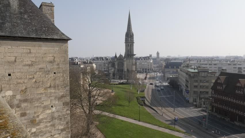 CAEN FRANCE MARCH 2016 City Centre Of Calvados Capital Caen With