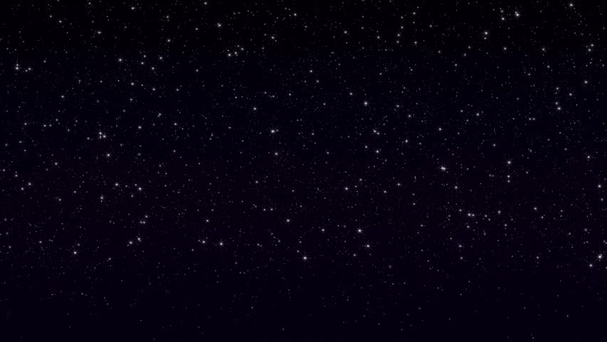 Seamless loop of twinkling stars. Created at 1920x1080p.