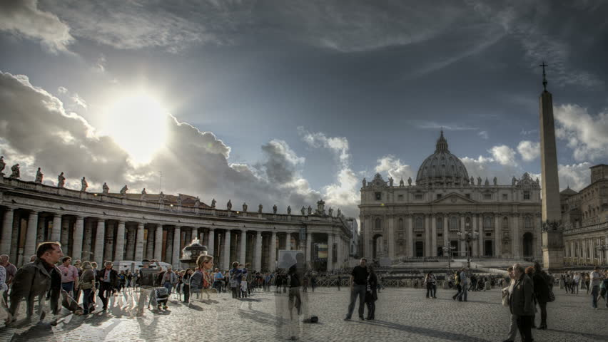 ROME, ITALY - OCTOBER 26 (Timelapse): Timelapse of St. Peter's Square at the