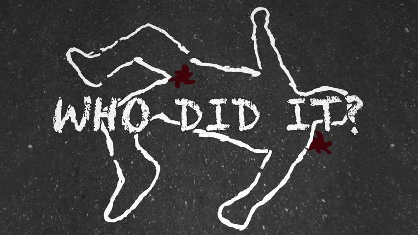 Who Did It Murder Crime Scene Suspect Chalk Outline Animation
