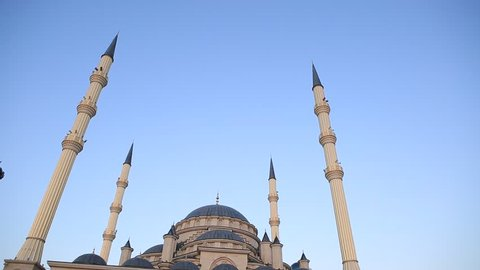 Mosque in Grozny. Chechen Republic. Heart of the Chechen Republic. Heart of Chechnya