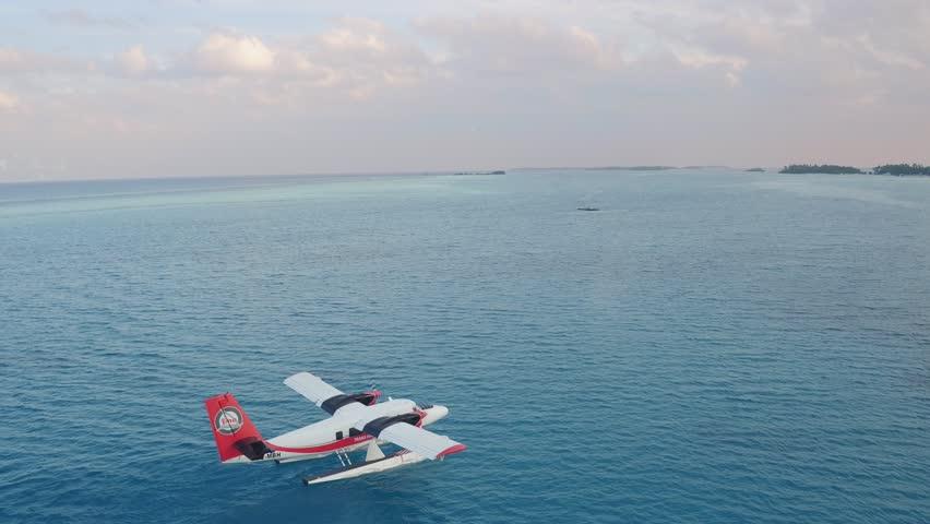 Seaplane take off - Maldives