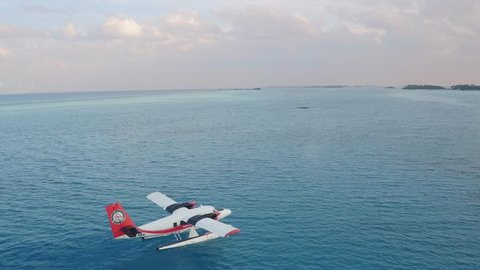 Seaplane take off - Maldives