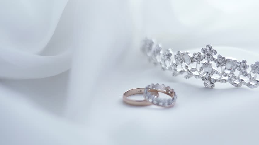 Diamond With White Gold Ring Stock Footage Video