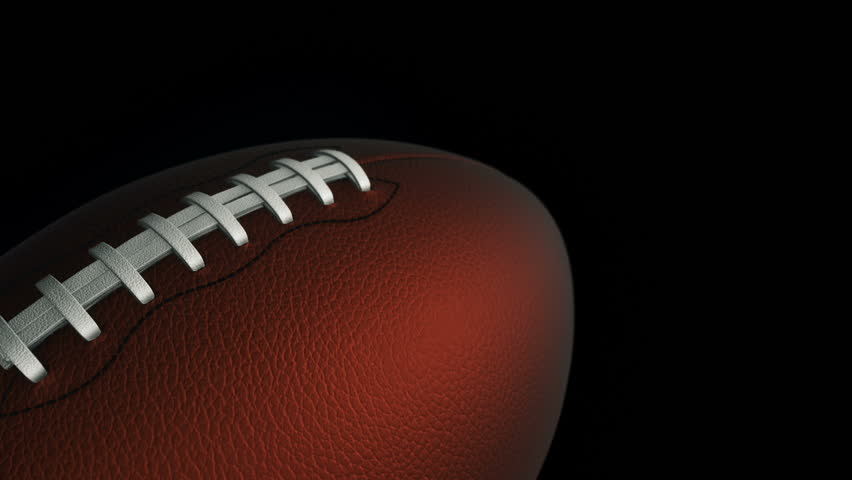 Animation of slow rotation ball for american football. View of close-up with realistic texture and light. Animation of seamless loop. | Shutterstock HD Video #17885542