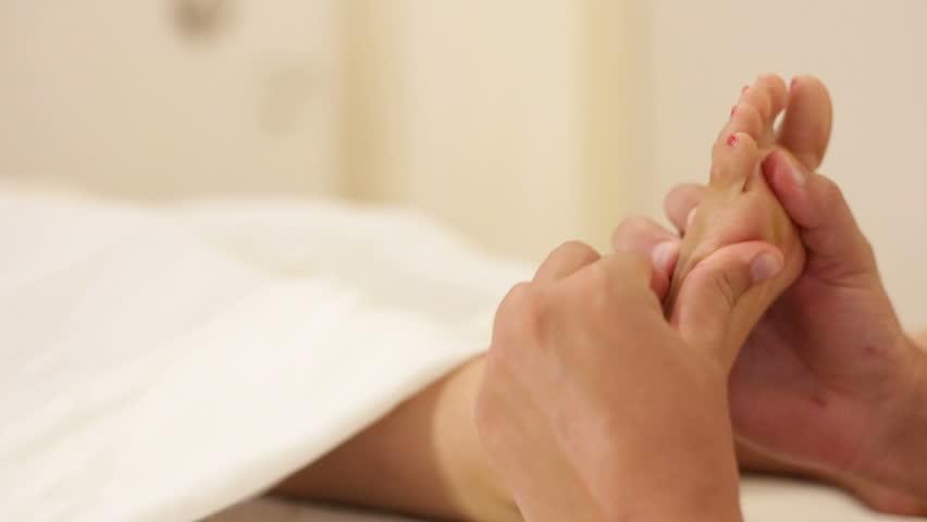 Shot of Women foot massages