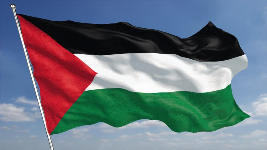 Palestine flag stock footage video shutterstock - Palestine flag wallpaper hd ...