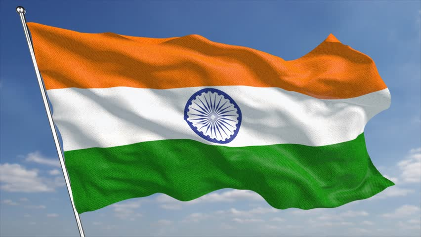 Indian Animated Flag Waving