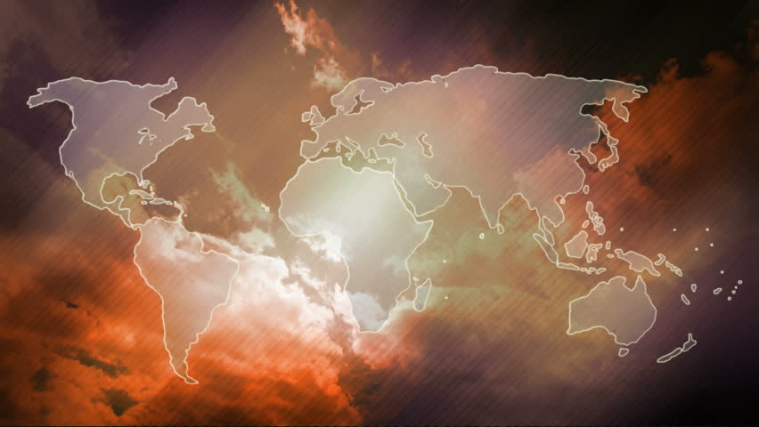 World map design animated world map at colourfull background with world map design animated world map at brown background with sky and clouds time lapse gumiabroncs Choice Image